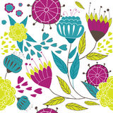 Diseño encantador del resorte con las flores. ilustración del vector