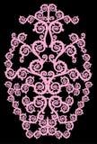 Diseño encrespado color de rosa vertical simétrico stock de ilustración