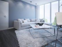 Diseño escandinavo de la sala de estar Fotos de archivo