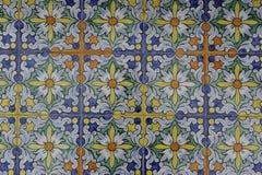 Diseño esmaltado de la teja Fotos de archivo