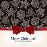 Diseño especial del menú de la Navidad Fotografía de archivo libre de regalías