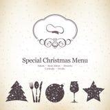 Diseño especial del menú de la Navidad Foto de archivo