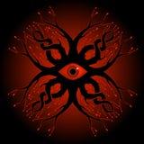 Diseño espeluznante del tatuaje del ojo libre illustration