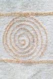 Diseño espiral en furly superficie Fotografía de archivo libre de regalías