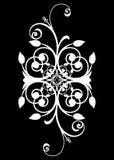 Diseño espiral negro blanco Fotografía de archivo libre de regalías