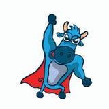 Diseño estupendo lindo de la historieta del búfalo libre illustration