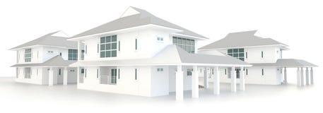 diseño exterior de la arquitectura residencial del estado 3D Fotografía de archivo