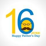 Diseño feliz de la tarjeta de felicitación del día de padres Fotos de archivo libres de regalías