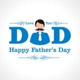 Diseño feliz de la tarjeta de felicitación del día de padres Imágenes de archivo libres de regalías
