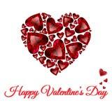Diseño feliz de la tarjeta de felicitación del vector del día de tarjetas del día de San Valentín Fotografía de archivo