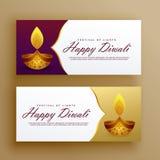 Diseño feliz de lujo superior del vector de la tarjeta de las banderas del diwali