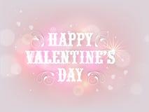 Diseño feliz del cartel de la celebración del día de tarjeta del día de San Valentín Fotografía de archivo libre de regalías