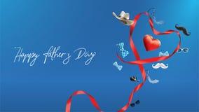 Diseño feliz del día de Father's con concepto de la diversión y color en colores pastel