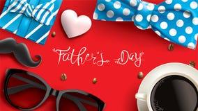 Diseño feliz del día de Father's con concepto de la diversión y el fondo de la bandera del color en colores pastel en venta