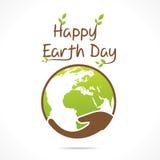 Diseño feliz del Día de la Tierra Imagenes de archivo