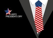 Diseño feliz del día de los presidentes de corbata de los E.E.U.U. ilustración del vector