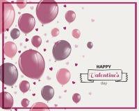Diseño feliz del día de tarjeta del día de San Valentín libre illustration