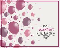 Diseño feliz del día de tarjeta del día de San Valentín stock de ilustración