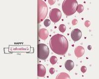 Diseño feliz del día de tarjeta del día de San Valentín ilustración del vector