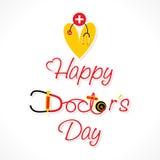 Diseño feliz del día del doctor Fotos de archivo libres de regalías