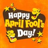 Diseño feliz del día del ` s de April Fool stock de ilustración