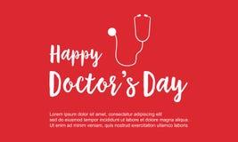 Diseño feliz del fondo de la celebración del día del doctor