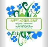 Diseño feliz del poscard del día de madre Imagen de archivo