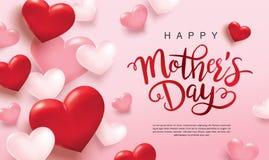 Diseño feliz del saludo del día del ` s de la madre stock de ilustración