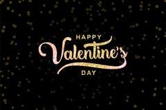 Diseño feliz del saludo de día de San Valentín Ejemplo popular de moda del vector ilustración del vector