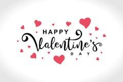 Diseño feliz del saludo de día de San Valentín Plantilla popular de moda de la bandera stock de ilustración