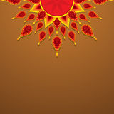 Diseño feliz del saludo del diwali