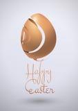 Diseño feliz del vector del huevo de Pascua Imagenes de archivo