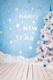 Diseño festivo de la Feliz Año Nuevo composición en los días de fiesta sujetos Fotografía de archivo libre de regalías