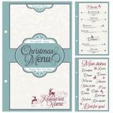 Diseño festivo del menú de la Navidad especial Imágenes de archivo libres de regalías