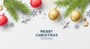 Diseño festivo del vector de la bandera de la Navidad libre illustration