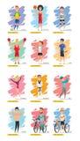 Diseño fijado caracteres del vector del deporte Fotografía de archivo libre de regalías