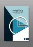 Diseño financiero A4 de la cubierta con el gráfico de sectores Vector Fotos de archivo libres de regalías