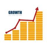 diseño financiero del dinero del crecimiento del negocio Fotos de archivo