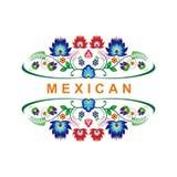 Diseño floral étnico mexicano precioso de la decoración ilustración del vector