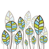 Diseño floral abstracto Fotos de archivo libres de regalías