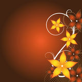 Diseño floral abstracto Foto de archivo