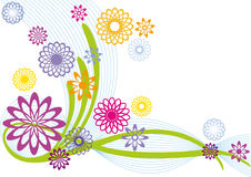 Diseño floral abstracto stock de ilustración