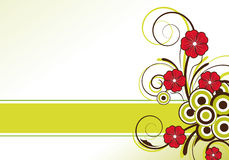 Diseño floral abstracto con área de texto Fotos de archivo libres de regalías