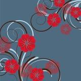 Diseño floral abstracto con las flores Foto de archivo