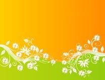 Diseño floral abstracto del fondo Imagen de archivo libre de regalías
