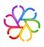 Diseño floral abstracto diverso del logotipo Imágenes de archivo libres de regalías