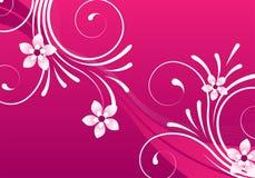 Diseño floral abstracto rosado Foto de archivo libre de regalías
