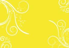 Diseño floral amarillo Foto de archivo libre de regalías
