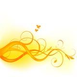 Diseño floral amarillo Imágenes de archivo libres de regalías