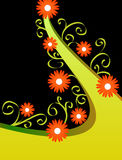 Diseño floral anaranjado Imagen de archivo